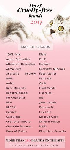 List of Cruelty-free Makeup Brands | Cruelty-free Brands | 280 Cruelty-free Brands | Cruelty-free