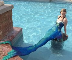 Silicone Mermaid Tail - love how it almost looks like a one piece!