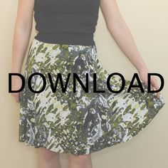This women's skater skirt tutorial and free pattern is easy to make and light and breezy. Perfect for spring and summer this skirt has a lovely drape to it. Materials 1 yard knit fabric (60' wide) for skirt. A lightweight knit will drape nicely. 1/4 yard contrast knit fabric for waistband. This fabric must have a minimum of 50% stretch and good recovery. I suggest cotton lycra or nylon spandex. Choose your size Small: 27-28' waist Medium: 29-30' waist Large: 31-32' wa...