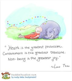Health IS the greatest possession! Buddha Doodle by Molly Hahn