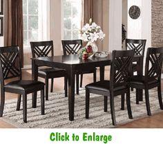 Standard Furniture Brooklyn 7 Piece Rectangular Dining Table Set In Espresso