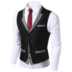 Mens Layered design Vest Waistcoats (AV9)