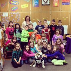 """Pops & I got to be the """"mystery readers"""" at Sugar Creek Elementary today. They loved the story of #goodboyblue"""