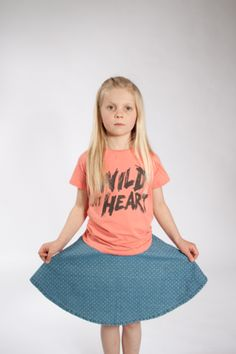 Mini Rodini Wild at Heart Tee looks great with Jeans & Skirts shop look now | Sparkle and Spin