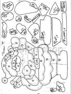 1 photo - Her Crochet Felt Patterns, Applique Patterns, Craft Patterns, Sewing Patterns, Felt Christmas, Christmas Stockings, Christmas Crafts, Christmas Ornaments, Felt Fox