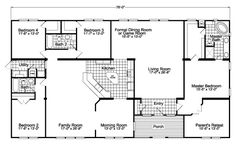 Optional Kitchen Layout - Facing Family Room - The Gotham SCWD76F8 by Palm Harbor Homes  Love this layout!!!