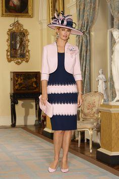 Condici Dress & Jacket 70846, colour Pink Sherbert / Navy.