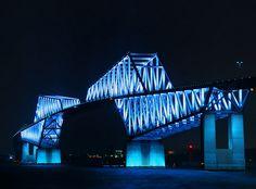 TOKYO GATE BRIDGE LIGHTS UP