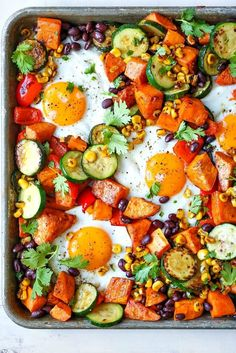 5 Sheet Pan Miracle Meals — Sheet Pan Miracle Meals This and the tofu ones are yummy looking vego options easily adapted to one person size. meals for supper 5 Sheet Pan Miracle Meals Easter Dinner Recipes, Healthy Dinner Recipes, Vegetarian Recipes, Cooking Recipes, Pan Cooking, Egg Recipes For Breakfast, Diet Recipes, One Pan Meals, Easy Meals