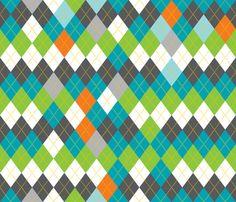 Argyle fabric by kfay on Spoonflower - custom fabric