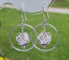 Handmade Sterling Silver Encircled Danish Love Knot