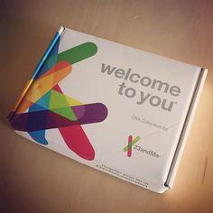 Den kom lige med posten i dag nu skal der bare spyttes i et rør så skal den sendes tilbage til afsenderen #23andme #dna