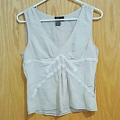 Light Gray Geometric Patterened Sleeveless Tank Perfect condition. 100% silk. Selling until May 29th BCBGMaxAzria Tops Tank Tops