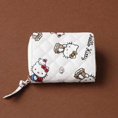 Hello Kitty x Nina mew Leather Wallet Purse White Ninamew JAPAN