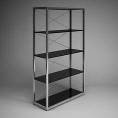 3D Model CGAxis Office Shelf Unit 35 c4d, obj, 3ds, fbx