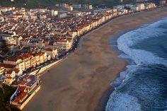 La kilométrica playa de Nazaré, Lisbon Region, Portugal