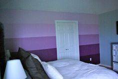 Ombre Stripe Wall   Ombre Wall