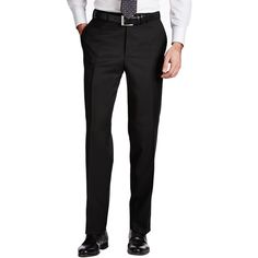Contemporary Dress Pants ($285) ❤ liked on Polyvore featuring men's fashion, men's clothing, men's pants and men's dress pants