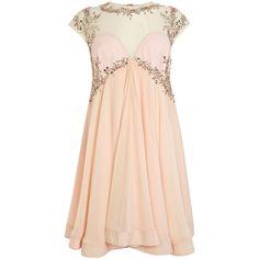 Coast Thalia Dress ($355) ❤ liked on Polyvore featuring dresses, vestidos, short dresses, robe, pink, short sleeve dress, long-sleeve mini dress, mini dress and pink high low dress