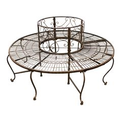 Entrada Metal Surrounded Tree Bench