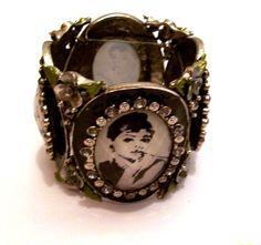 Audrey Hepburn Picture Bracelet Breakfast by CreationsByJanetUSA, $49.00