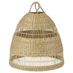 IKEA - TORARED, Pendant lamp shade, seagrass, Gives a soft glowing light, that gives your home a warm and welcoming atmosphere. Each lampshade is unique since it is made of seagrass with natural color variations and is hand-woven by skilled craftspeople. Luminaire Ikea, Deco Luminaire, Ikea Light Fixture, Light Fixtures, Style Rustique, Bamboo Shades, Gras, Brass Color, Spring Cleaning