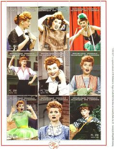I Love Lucy stamps
