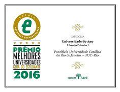 Certificado: <EM>Universidade do Ano</EM></STRONG><STRONG>- <EM>Guia do Estudante 2016</EM>