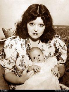 Clara Bow & baby