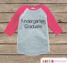 Girls Kindergarten Graduation - Pink Raglan Kindergarten Graduate Outfit - Kids Kindergarten Shirt - Pink Last Day of School T-shirt Tee Top