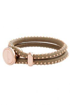 SWBZ00386BG - Bronzallure dames armband met studs