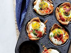 Lure kids into eating a fulfilling breakfast with this cute all-in-one dish. You can cater to individual tastes too: Add chives to one up and spinach to another, or exchange the bacon for ham. View Recipe: Egg and Toast Cups