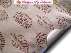 Paisley Print Fabric, Indian Cotton Floral Leaves Print Lightweight Material. $18.99 FREE Shipping. http://www.mamtamotiyani.com/product/paisley-fabric-indian-hand-printed-block-print-design