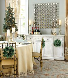 With its classic breakfront design, our Marcel Console serves up timeless style in the dining room, living room or entry. Christmas Trimmings, Rustic Christmas, Christmas Time, Christmas Decor, Home Comforts, Grey Walls, Gray Rooms, Ballard Designs, Christmas Inspiration