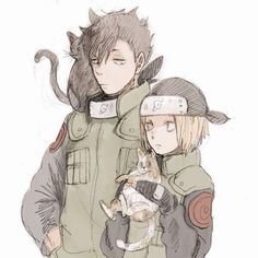 Kuroo Tetsurou and Kozume Kenma - Haikyuu! and Naruto Crossover Haikyuu Fanart, Haikyuu Ships, Haikyuu Anime, Kagehina, Kuroo Tetsurou, Me Anime, Anime Manga, Anime Guys, Anime Crossover