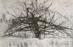Tree II, 1912 by Piet Mondrian