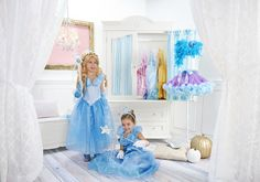 The Disney Cinderella Movie Deluxe Costume for Kids is the crown jewel of costumes! This absolutely adorable gown features beautiful butterfly accents, a shimmery metallic front bodice, and a full sparkle skirt!  #cinderella #movie #disney #princess