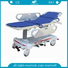 AG-HS008 CE ISO luxurious ABS handrail with body strap hospital patient transfer stretcher