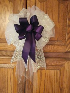 Set+of+10+Big+Beautiful+Satin+And+Tule+Bows+With+by+AsPrettyDoes,+$100.00