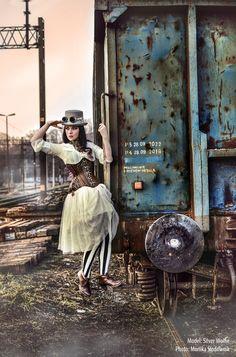 Model: @xSilverWolfie, photo Monika Slodownik, photoshoot for Restyle.pl    #gothic #goth #restyle #restylepl #alternativefashion #gothicfashion #fashion #corset #underbust #gorset #ombre #tatuaz #tattoo #beautiful #amazing #dark #silverwolfie #roses #gothgirl #alternatywna #modelka #gotyk #victorian #steampunk #cylinder #gogle #tights #sexy #steampunkstylization #steamgirl