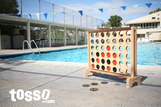 Great looking Giant Connect 4 game made the list of the best beach and poolside games of Giant Outdoor Games, Giant Games, Outdoor Play, Beach Games, Pool Games, Yard Dice, Las Vegas, 4 In A Row, Family Bbq