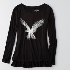 New American Eagle Signature T-Shirt - Small Brand new American Eagle Outfitters Tops Tees - Long Sleeve