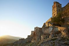 #Craco is a ghost town in #Basilicata in #Italy, abandoned after a series of landslides. The views, however, remain stunning.
