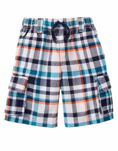 Gymboree Boys Size 7 Surf Sunset Plaid Cargo Shorts NWT $30 #Gymboree #Everyday