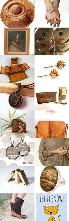 Women brown look by Mariposa Handmade leather bag on Etsy--Pinned with TreasuryPin.com