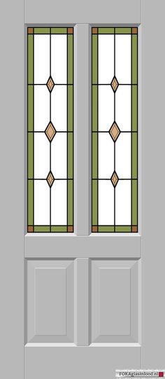 Glas-in-lood smal wybers groen