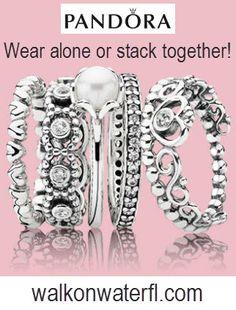 #Pandora #rings!  Stack them or wear them alone at #WalkOnWater in Winter Park and Lake Mary, Florida.
