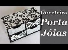 Artesanato em MDF - Gaveteiro Porta Jóias com Contact - YouTube
