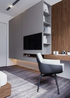 Design-project of the apartment on Saksaganskogo street