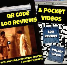 """Here's a fun idea! Combine QR Codes that link to video book trailers on a laminated sign taped to the back of a bathroom stall door that says """"Do NOT Scan These!"""" and you should get the kids streaming into the high school library to check out books!"""